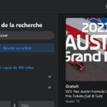 Billet Formule 1 Facebook