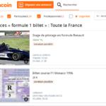 Billet Formule 1 Leboncoin