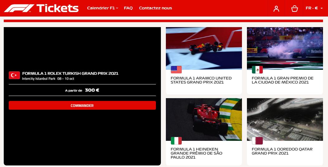 Billetterie officielle de la FIA